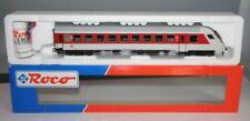 Vagones de pasajeros de escala H0 blancos analógicos para modelismo ferroviario