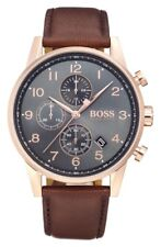 Hugo Boss HB 1513496 Mens Rose Gold Navigator Watch - 2 Years
