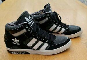 Adidas Hardcourt Herren Hi Sneakers Black Grey & White UK 7 (EU 40 2/3)