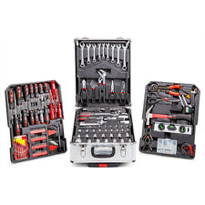 Tool Set 186 Piece Silver Aluminium Storage Case Complete Workshop Kit - Top Tec