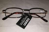 Zippo Stylish Unisex Reading Glasses Gold Frames +3,50