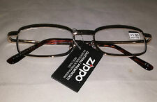 Zippo Stylish Unisex Reading Glasses Gold Frames +1,00+2,50+3,00+3,50