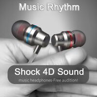 Stereo HIFI Super Bass Headset 3.5mm In-Ear Earphone Earbuds Headphone Wired Mic