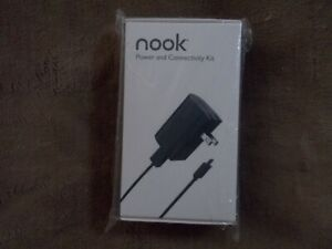 Genuine Barnes & Noble Nook, Color Charger Power AC Adapter & Generic Cable Kit