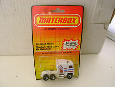 1983 MATCHBOX SUPERFAST #45 WHITE KENWORTH COE AERODYNE NEW MOC