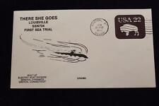 DRW NAVAL COVER #85 1ST SEA TRIAL USS LOUISVILLE (SSN-724) 1986 MACHINE CANCEL