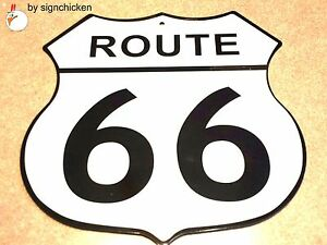 """ROUTE 66 SIGN, 12"""" ALL ALUMINUM  / man cave, home decor, highway signs, replica"""