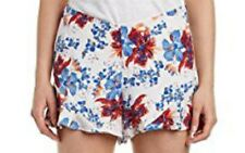 NWT Free People Women's Size 12 M Blue Ivory Multi-coloured Floral Boho Shorts