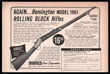 1955 REMINGTON Model 1901 Rolling Block Rifle AD Small Partial-page CLIPPING