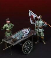 1/35 Resin Figure Model Kit German Soldiers WWII WW2 Unpainted Unassambled