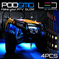 Four Blue Pods Led Rock Lights Atv Utv for Polaris