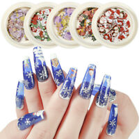 Holographic Nail Art Christmas Flakes Stickers Decals Sequins nail Manicure