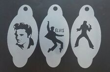 3 x Elvis Presley face painting stencils reusable many times Porthcawl festival