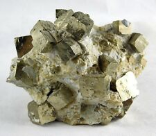 Pyrite Crystal Cubes in Matrix- Fools Gold Iron Great Gift - 1.124 Kg Spain