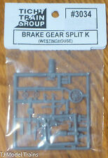 Tichy Train Group #3034 Brake Gear Details -- Westinghouse Split K System (HO)