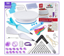 Cake Decorating Kit - 144 Piece Baking supplies With Bonus Accessories