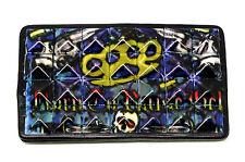 Skull Belt Buckle Tattoo Art Style Studded Gothic Graffiti Design * UK Seller *