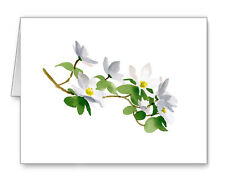 Dogwood Flowers Note Cards With Envelopes