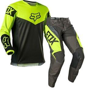 Fox 180 REVN Flo Yellow Motocross MX Race Offroad Kit Gear Adults