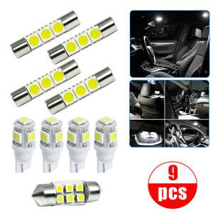 Car Interior LED Lamp Package Kit For Map Reading License Plate Light Bulb White