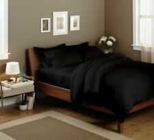 4-Piece: Luxury Home 1200 Count Egyptian Cotton Black Solid Sheet Sets