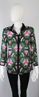 Ted Baker Medium 10 12 Size 2 Top Blouse Shirt Black Pink Floral Sheer RRP £98