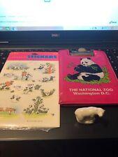 Mini Bear, Hallmark 1989 Stickers, 1989 Mini Zoo Clipboard Vintage Junk Drawer