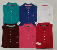 NWT Aeropostale Womens Polo/Collared Shirts Short Sleeve Buttoned XS S M XL