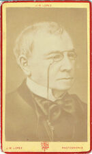Photo cdv : J.M.Lopez ; Portrait d'Emile de Girardin , Journaliste  , vers 1875