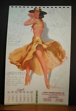 Withers Calendar Page August 1959 Argentina Land of Silver Gauchos Glamour Tango