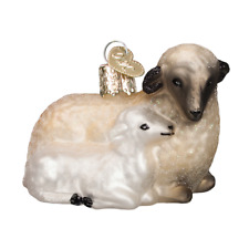 """""""Sheep with Lamb"""" (12414) Old World Christmas Glass Ornament w/OWC Box"""