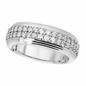 10k White Gold Finish Men's Diamond Round Cut Wedding Engagement Ring Pinky Band
