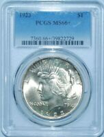 1923 P PCGS MS66+ Peace Silver Dollar