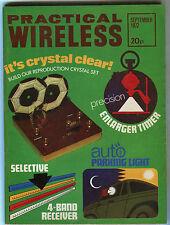 Practical Wireless: September 1972: Reproduction Crystal Set, Parking Light