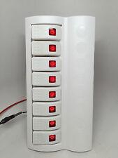 MARINE BOAT WHITE SWITCH PANEL 8 GANG RED LED INDICATOR ROCKER CIRCUIT BREAKER