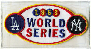 1963 WORLD SERIES PATCH  Willabee & Ward LOS ANGELES DODGERS / NEW YORK YANKEES