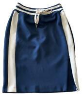 NEW, PAM & GELA BLUE ATHLETIC PENCIL SKIRT, XS, $275