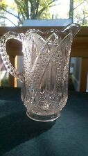 Beautiful Anitque Glass Pitcher Syrup or Cream Nice Size!!