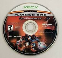 MechAssault - Platinum Hits (Microsoft Xbox, 2002) DISC ONLY