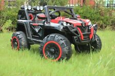 4x4 BUGGY Jeep Kinderauto Elektroauto Fernbedienung 4 Motoren 2x 12V Akku NEU