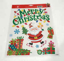 Merry Christmas Window Clings 9 Count Decorations Holiday Decor