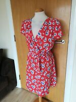 Ladies Dress Size 16 NEW LOOK Orange Floral Smart Casual Day Party