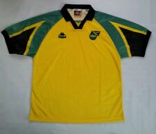 VINTAGE RARE KAPPA JAMAICA FOOTBALL FEDERATION SOCCER JERSEY IN SIZE XL