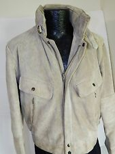 Vtg Chess King ROUGH OUT Suede BOMBER Coat LEATHER Motorcycle BIKER Jacket 42