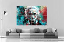 ALBERT EINSTEIN POP ART DESIGN Wall  Poster Grand format A0 Large print 02