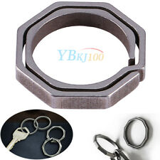 Titanium Alloy Hiking Camping Quickdraw Key Ring Hanging Buckle Keychain Tool