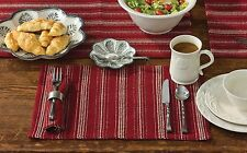 Placemat Set of 2 - Nicholson in Garnet by Park Designs - Kitchen Dining