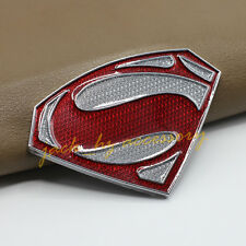 Red Shading Metal Crystal Super Man Car 3D DIY Emblem Badge Decal Accessory Part