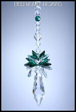 m/w Swarovski Icicle Sun Catcher Emerald Octagons Pendulum Lilli Heart Designs