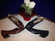 Vintage Hollywood 2 Pairs Women's Shoes Black? Brown Leather Size 7M Nine West